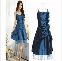 2013 spring and summer women's elegant slim long bow design dinner dress suspender skirt chiffon one-piece dress
