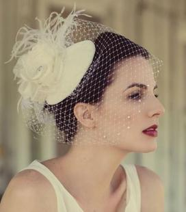 Handmade vintage women's gauze feather three-dimensional hair accessory the bride small fedoras accessories hair accessory(China (Mainland))