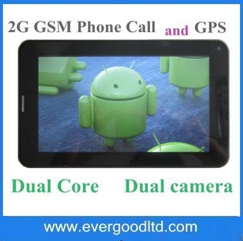 Free Shipping Newest 7 inch Tablet PC 2G SIM card slot MTK8317 Android 4.1 Dual Core Dual Camera GPS FM Tablet Phone