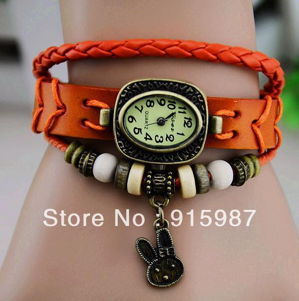 2013 hot style bracelets table, Restoring ancient ways women fashion bracelets table, rabbit shape bracelet watch Quartz watch(China (Mainland))