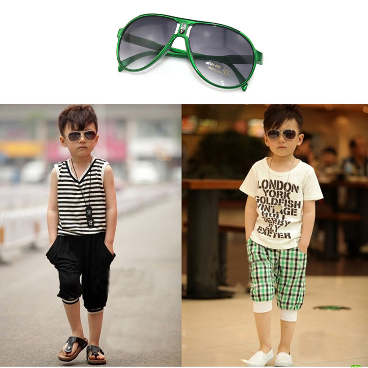2013 Kids COOL sunglasses Double bridges 100% UV400 Protection Goggles children Baby sun glasses Summer gifts ,free shipping(China (Mainland))