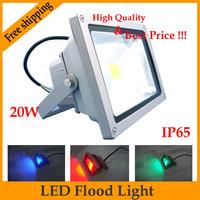 Hot Sale,10PCS/lot Led Flood Light 10W , 20W ,  Warm White / Cool White / RGB Remote Control Floodlight Led Outdoor Lighting