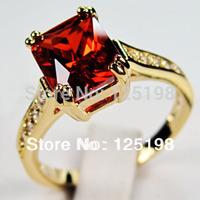 Мода ювелирные изделия 10тыс.т желтое золото заполнены кольцо белый сапфир для мужской палец кольца размер 9/10/11/12 e2538