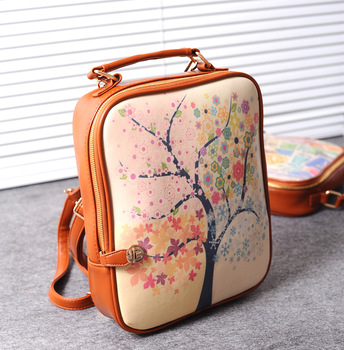 2013 women's handbag casual vintage preppy style backpack school bag 7359