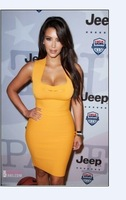 2013 NEW Women's HL Hollow out Bandage Dress Celebrity dress Cocktail Party Evening Dresses orange Women's  Dress