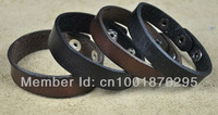LOT 4PCS SIMPLY COOL SINGLE BAND GENUINE LEATHER BRACELET WRISTBAND  CUFF MEN'S UNISEX