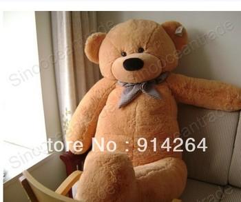 "6.56 FEET TEDDY BEAR PLUSH TOY LIGHT BROWN JUMBO 78"" UK   free shipping"