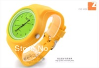 whosale ZGO quartz Dress Women Watch Fashion,Hot Selling Silicone gift watches jelly table candy color watches