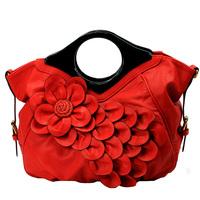 Women's handbag red bags married bridal bag flower bags 2013 handbag women's messenger bag