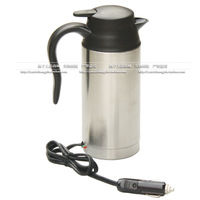 12v 24v car electric heating cup car kettle double layer stainless steel travel mug heated cup