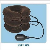 Tube full velvet latex cervical traction device inflatable portable cervical traction device coffee
