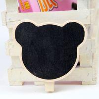 8*6cm Mickey-shaped Blackboard /Wood Blackboard memo/Message board/Wooden doorplate 20pcs/lot Free shipping