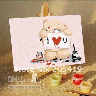 free shipping 19pcs/lot Mini DIY Digital Numeral Oil Painting, Educational Toy,hand painti(China (Mainland))