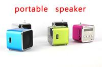 DHL,*120pcs* TD-V26 Portable Mini Digital Speaker for MP3 MP4 PC,Support Radio, USB, TF/SD Card,Free Shipping,Wholesale