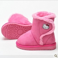 Free shipping 2013 hello kitty super cute children's boots cartoon snow boots