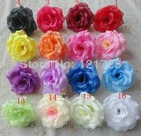 "8cm/3.15"" Artificial Silk Rose Flower Heads Wedding Christmas Party 16 Colors Diy Jewlery Brooch Headwear"