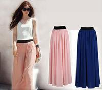 2013 New Fashion Chiffon Long Design Bohemia Women Skirt 9 Colors Free Size [A07000301]