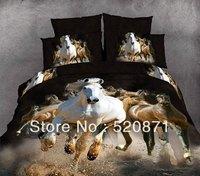 Постельные принадлежности Oil painting personalized quilt set 3d activated animal, tiger, leopard pattern 100% cotton bedding set 4 pcs