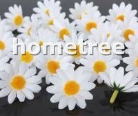 "Wholesale 100pcs White 3.5cm / 1.4"" craft silk flowers heads daisy flower wedding birthday party decorations free shipping"