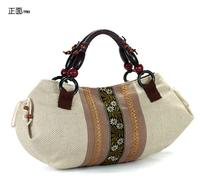 free shipping The trend of fashion elegant embroidered stripe women's handbag