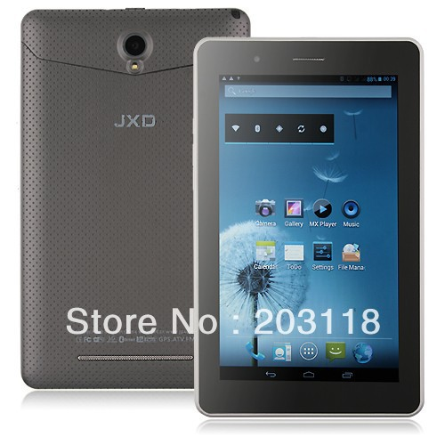 JXD P1000 MTK8377 3G Android 4.1 Tablet PC 7 Inch Screen GPS Bluetooth Dual SIM Card Monster Phone Dual Cameras(China (Mainland))