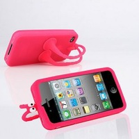 Grasshopper Silicone case for iphone 4g 4s with retail box,1pcs/lot free shipping