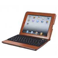 NEW wholesale 77-Key Portfolio Case with Bluetooth Keyboard for iPad,iPad 2 / 3 /4, Light Brown