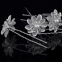 12pcs flower shape with Rhinestone Wedding Party Bridal Diamante Hair Pins free ship