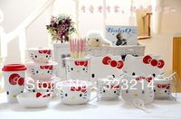 free shipping cute hello kitty tableware high quality hello kitty ceramic  fashion wedding gifts