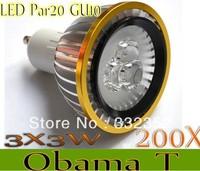 200XDimmable Led Lamp E27/GU10/MR16/E14/GU5.3/B22/E12 Par20 3X3W 9W Spotlight 85V-265V Led Light Led Bulbs with good quality