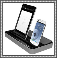 Ipega Multifunction Speaker+Desktop Charger Stand For samsung GALAXY S2 S3 Note2/ iPhone 4 4S 5/iPad 2 3 4 mini/iPod Touch