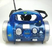 All-weather waterproof multifunctional two-waveband fm am radio multifunctional belt flashlight clock radio