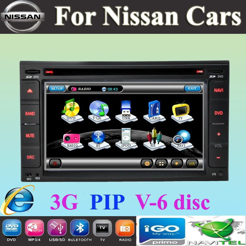 Car DVD for NISSAN TIIDA QASHQAI SUNNY X-TRAIL PALADIN PATHFINDER VERSA 350Z LIVINA MP300 NV200 Sentra Bluebird Geniss(China (Mainland))