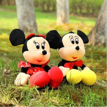 Newest cartoon foam particles toys summer dolls cute mikey toys 30*28cm gifts to kids/girls sold in pair retail