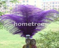"Lot 10pcs Purple Ostrich Feathers 25cm-30cm / 10""-12"" Wedding Birthday Christmas Decorations Free Shipping"
