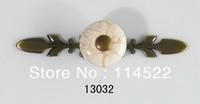 New design antique brass and ceramic door handles kitchen handles knobs wardrobe handles closet knob cabinet pulls classic 13032