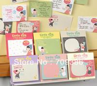 Korea stationery little cute girl memo stickers, memo pad, 30pcs/lot