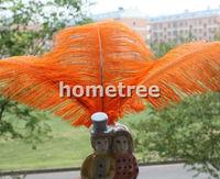 "Lot 10pcs Orange Ostrich Feathers 25cm-30cm / 10""-12"" Wedding Birthday Christmas Decorations Free Shipping"