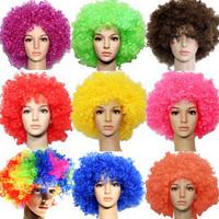 130 vlsivery large afro wig dance party set fans wig clown general