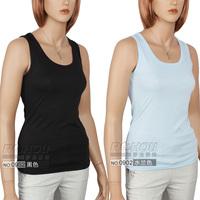 All-match lycra cotton o-neck slim all-match spaghetti strap vest basic shirt vest female