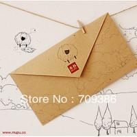 New arrival, Sheep printed simple kraft paper gift envelope, 110*200mm , 50pcs/lot