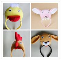 Adult child headband cosplay animal hair accessory chicken duck pig dog headband