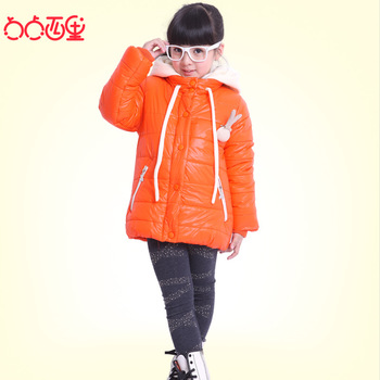 Dot 2013 winter child children's clothing female child baby thermal thickening wadded jacket cotton-padded jacket cotton-padded