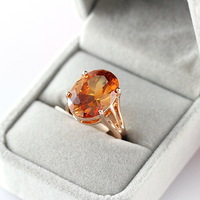 Free Shipping ITALINA Luxury Rose Gold Plated Crystal Ring Women Exaggerated Fashion Finger Ring Quality Jewelry