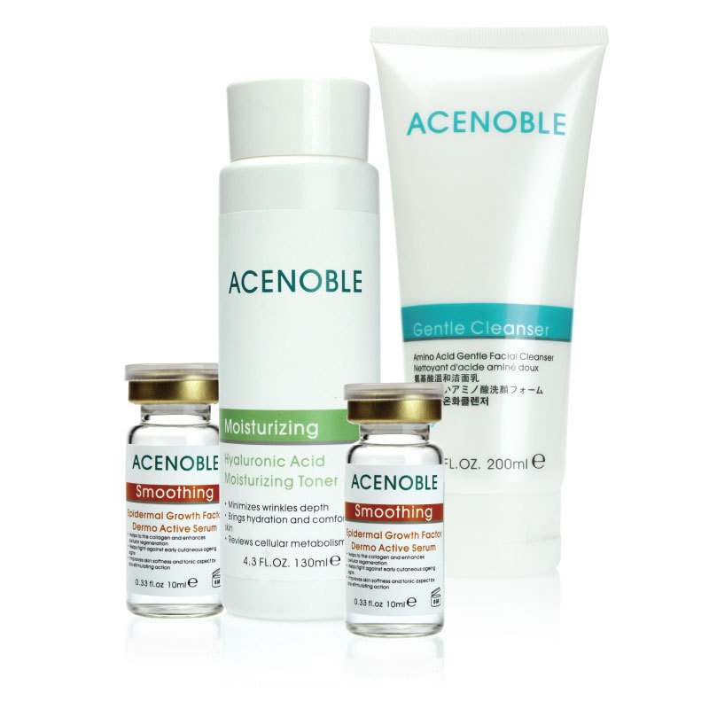 2013 new products Acenoble 'll wrinkle senium 4 set finelines firming facial cleanser essence water liquid essence(China (Mainland))