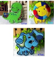 Wholesale - Cute cartoon Fabric applique iron-on patch, Blue Clue Dog, Lion King, dinosaur