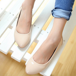 2013 spring sweet all-match fashion shallow mouth pointed toe small wedges japanned leather women&#39;s single shoes women&#39;s shoes(China (Mainland))
