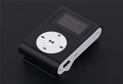 5 Colors MINI Clip Music MP3 Player Support Micro SD/TF Slot with 1.2&#39;&#39; Inch LCD Screen &amp; Earphone &amp; USB Cable Free Shipping(China (Mainland))