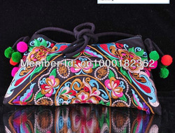 handmade Chinese embroidery zip body cross bag(China (Mainland))