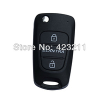 New Flip Folding Remote Key Shell Case Upgrade For Hyundai Old Elantra 2BT  FT0206
